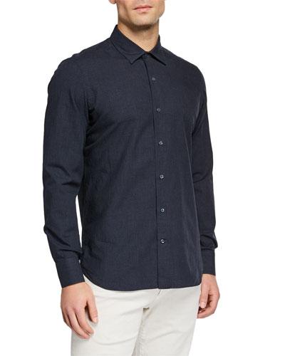 Men's Arthur Melange Check Sport Shirt