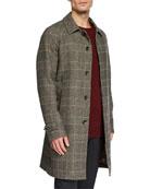 Loro Piana Men's Prince of Wales Plaid Overcoat