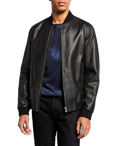 Men's Rhodes Brenton Leather Bomber Jacket