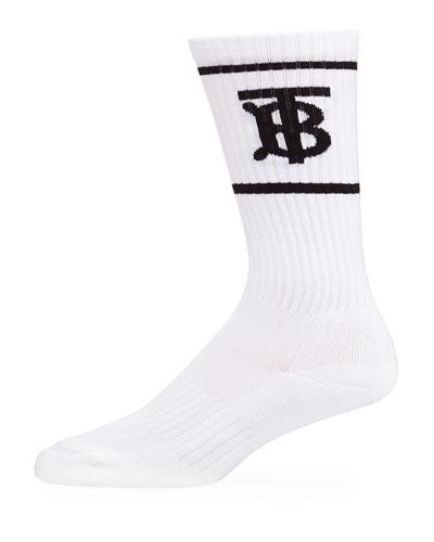 Men's TB Logo Dual-Stripe Sport Socks