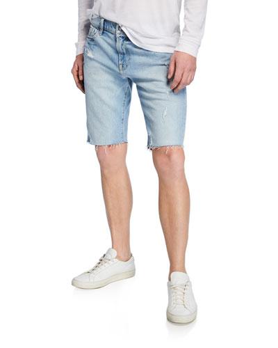 Men's L'Homme Cutoff Denim Shorts
