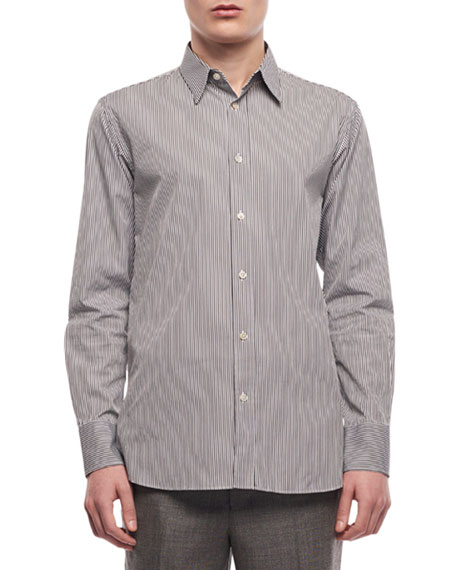 THE ROW Men's Ahmet Striped Sport Shirt