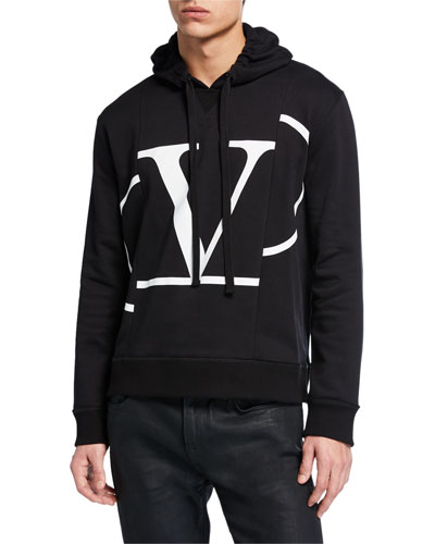 Men's Cut-Up Logo Graphic Pullover Hoodie