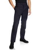 Lanvin Men's Contrast-Knee Slim Trousers