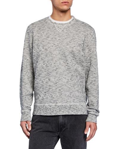 Men's Geometric Crewneck Fleece Sweatshirt