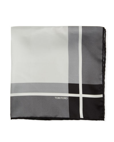 Multicolor Squares Silk Pocket Square