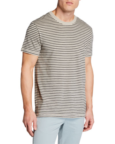 Men's Railroad Stripe Short-Sleeve Tee