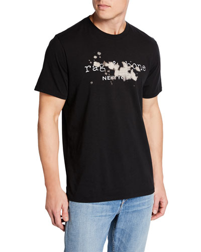 Men's Bleach Logo-Print Short-Sleeve Cotton Tee