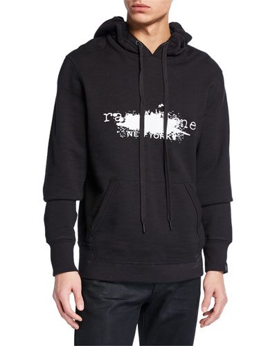 Men's Exclusive Paint Splatter Graphic Hoodie