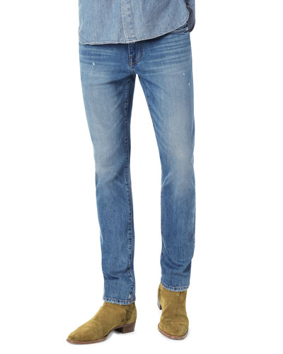 Men's Asher Slim-Fit Faded Denim Jeans