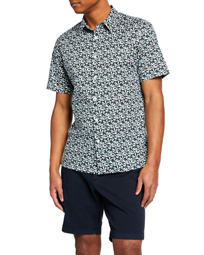 Men's Irving Angle-Printed Shirt