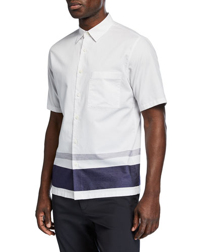 Men's Bruner Engineered Stripe Button-Down Shirt