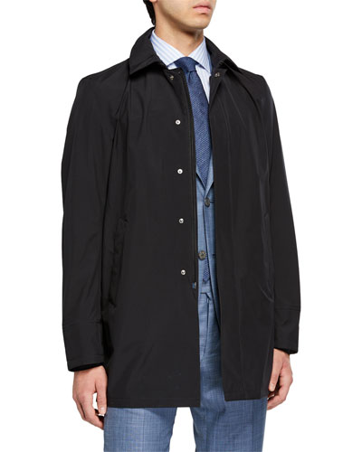 Men's City Trench Coat, Black