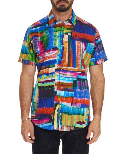 Men's Short-Sleeve Graphic Print Shirt