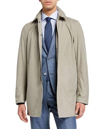Men's City Trench Coat, Tan