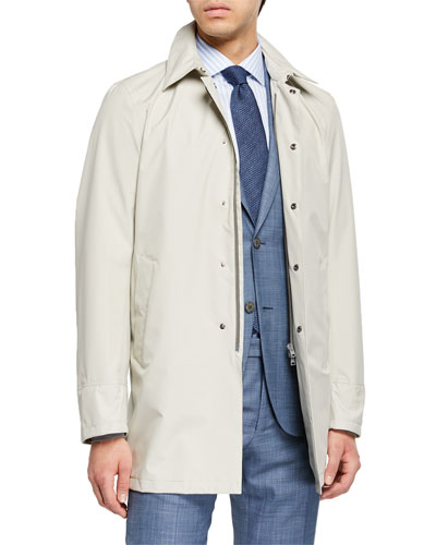Men's City Trench Coat, Stone