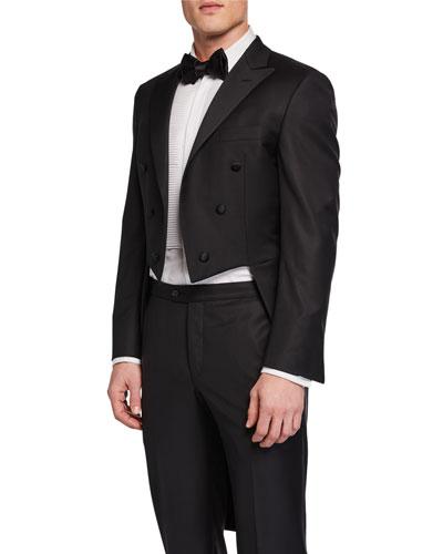 Men's Two-Piece Formal Tuxedo w/ Tails