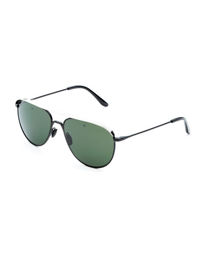 Men's Metal-Capped Pilot Sunglasses - Polarized