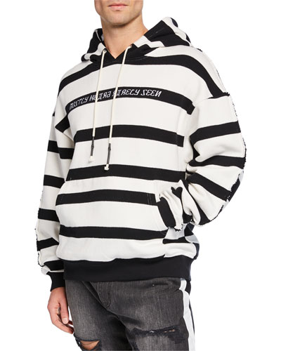 Men's Hype Man Striped Hoodie