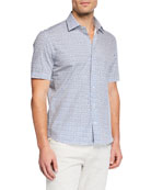 Culturata Men's Parrot-Print Short-Sleeve Sport Shirt