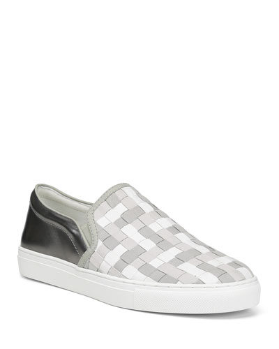 Men's Albin Woven Leather Slip-On Sneakers
