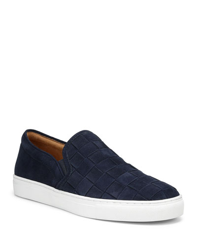 Men's Albin Woven Suede Slip-On Sneakers