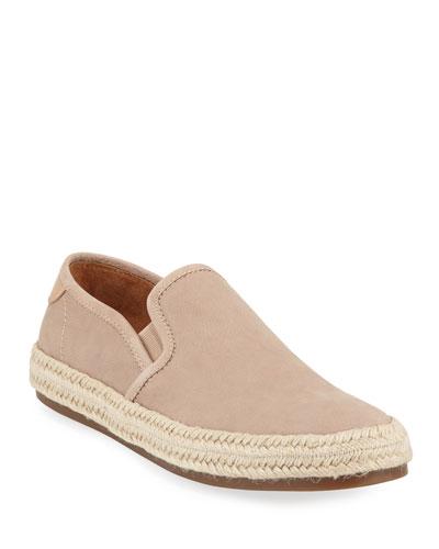 Men's Leather & Jute Slip-On Sneakers