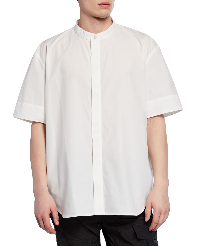 Fear Of God T-shirts MEN'S BAND-COLLAR WOVEN SHIRT