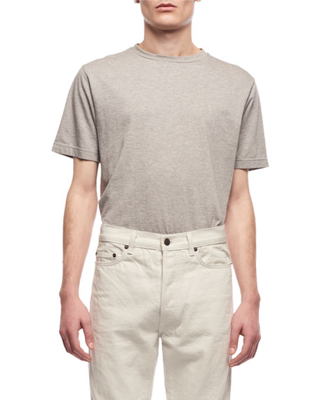 THE ROW Men's Ed Short-Sleeve Cotton-Cashmere T-Shirt