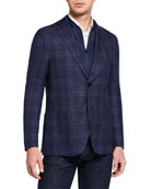 Corneliani Men's Windowpane ID Jacket
