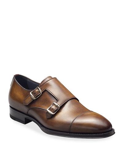 Men's Deco Zenzero Double-Monk Shoes