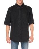 Balenciaga Men's Short-Sleeve Normal Fit Shirt
