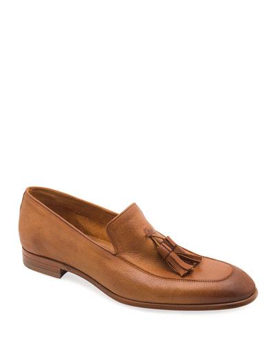 Men's Iko Leather Tassel Loafers