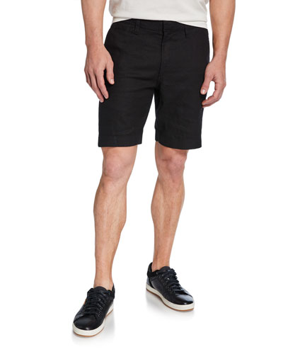 Men's Johnny Flat-Front Twill Shorts