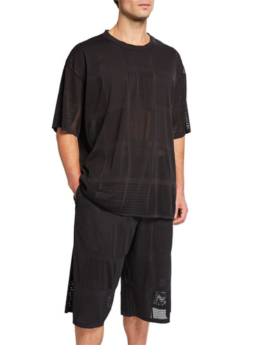 Men's Patchwork Mesh T-Shirt