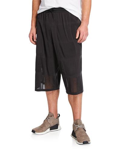 Men's Patchwork Mesh Basketball Shorts