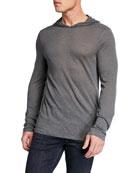 John Varvatos Star USA Men's Jensen Linen-Blend Pullover