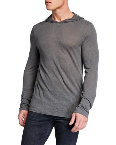 Men's Jensen Linen-Blend Pullover Hoodie