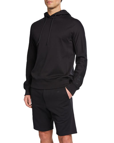 Men's Classic Terry Cloth Hoodie, Black