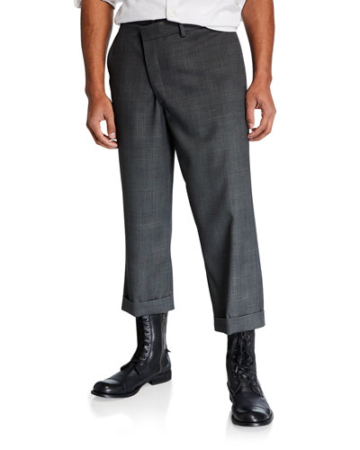 Men's Crossover Loose-Fit Trousers