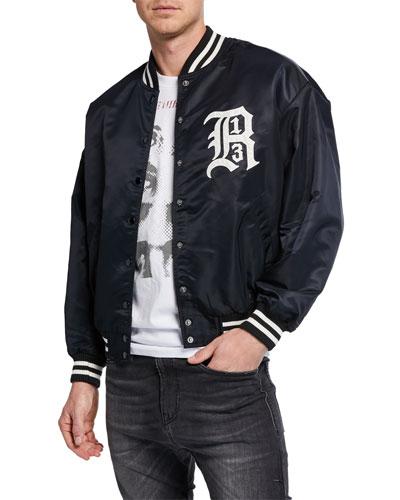 Men's Logo Nylon Bomber Jacket