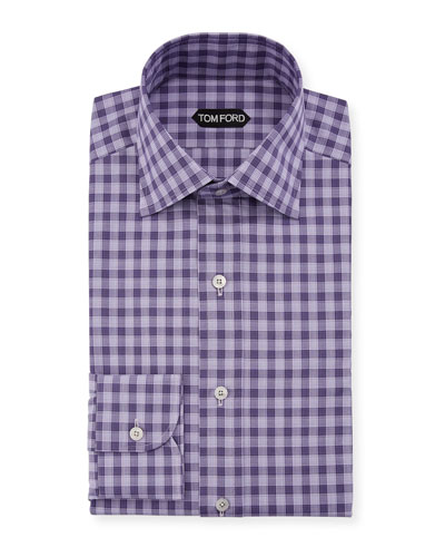 Men's Subtle Gingham Dress Shirt