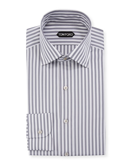 TOM FORD Men's Summer Stripe Dress Shirt