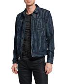 John Varvatos Star USA Men's Lucas Zip-Front Denim