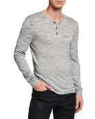 John Varvatos Star USA Men's Sean Melange-Knit Henley