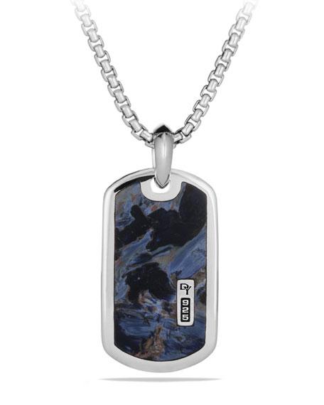 David Yurman Men's Sterling Silver & Pietersite Exotic Stone Tag