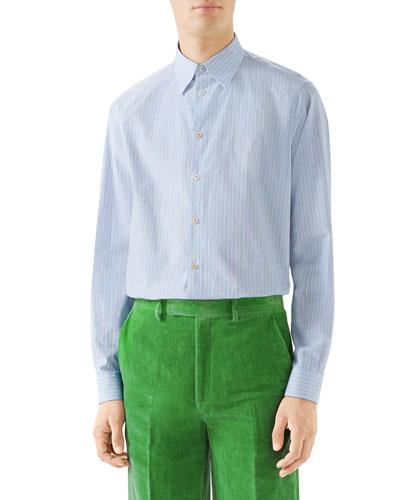 1e7751c23 Quick Look. Gucci · Men's Striped Button-Down Cotton Shirt