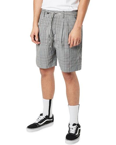 Men's Tailo Pleated Plaid Soft Shorts
