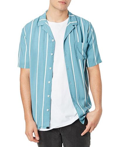 Men's Miami Striped Short-Sleeve Sport Shirt