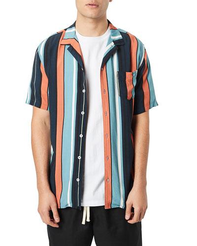 Men's Bel Air Striped Short-Sleeve Sport Shirt